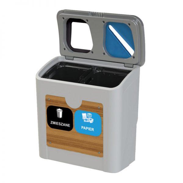 Stacja do segregacji odpadów Tudeks 2 x 50l