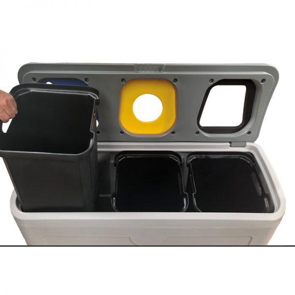 Stacja do segregacji odpadów Tudeks z wkładami wewnętrznymi