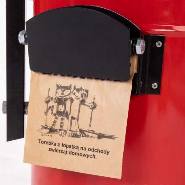 Kosz na psie odchody Toffik 20l / 35l z klipsem na papierowe zestawy higieniczne/torebki